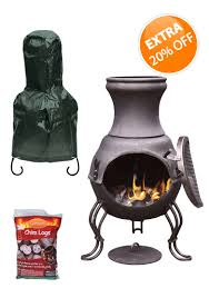 Chiminea Fire Pit Chiminea And Fire Pit Saver Bundles Chimineashop Co Uk