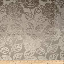 Velvet For Upholstery Kaslen Cut Velvet Floral Oyster Discount Designer Fabric