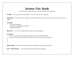 science fair report template science fair procedure template fieldstation co