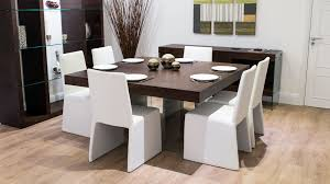 Seater Square Dark Wood Dining Table And Chairs Funky Glass Legs - Funky kitchen tables and chairs