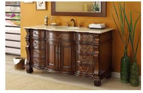 adelina 60 inch antique style bathroom vanity cream marble