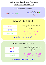 solving equations cazoom maths worksheets using the quadratic formula circuit diagrams of electronics projects