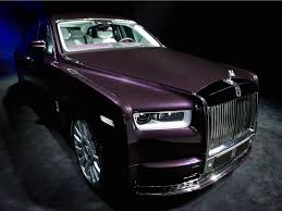 purple rolls royce the new rolls royce phantom is the most technologically advanced
