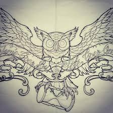 owl with hourglass tattoo ink pinterest hourglass tattoo