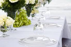 wedding table setting near whe beachfront stock photo picture and