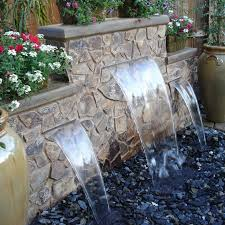 Small Backyard Water Feature Ideas Pondless Waterfalls For The Landscape Waterfalls Water Features