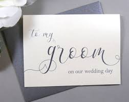 card to groom from on wedding day i can t wait to you card wedding day card