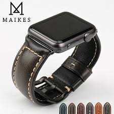 black strap bracelet images Maikes genuine leather watch bracelet accessories for apple watch jpg