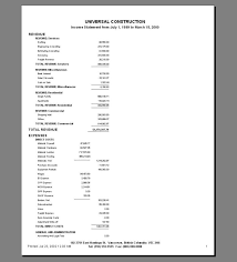 Financial Statements Templates For Excel Income Statement Template Personal Income Statement Template