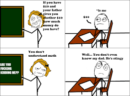 Meme Comic Strip - math rage comic by albowtross91 on deviantart