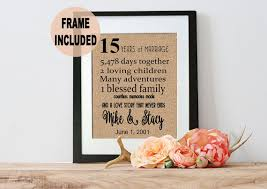 15 year anniversary gift for him 15 year anniversary gift 15th anniversary 15th wedding