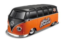 orange volkswagen van maisto harley davidson custom volkswagen van samba radio control