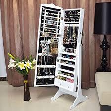 free standing jewellery armoire uk floor standing jewelry jewellery storage box cabinet organiser