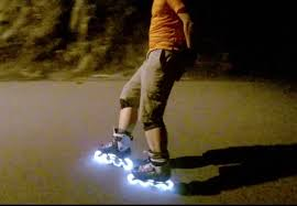 light up inline skates inline skating downhill at 3am with fothon led wheels youtube