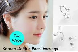 two way earrings 2 way wearing 18k white gold earrings singapore daily deals