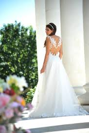 wedding dress lace backless a line bridal dress luxandglamor