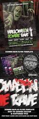 halloween zombie rave nightclub event poster or fl jahreszeiten