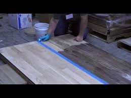 Can I Use Vinegar To Clean Hardwood Floors - staining a hardwood floor with vinegar and steel wool youtube