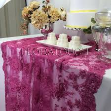 fuschia pink table cloth fuschia pink beaded lace sequin tablecloth with scalloped edge