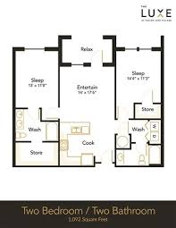 two bed two bath floor plans floor plans of the luxe at indian lake village in hendersonville tn