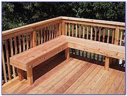 decorating deck bench