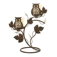 metal candle holders owls iron candle holder flower buds votive