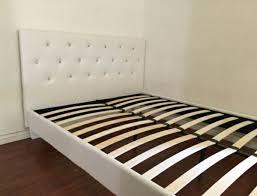 Studded Bed Frame New White Studded Leather Platform Bed Frame General In
