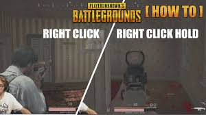 how to switch aim modes right click behaviour in pubg ads