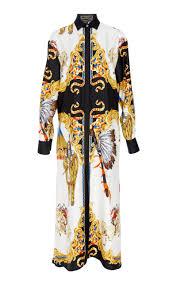 long sleeve shirt dress by versace moda operandi