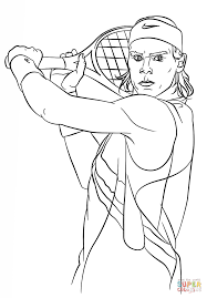 rafael nadal coloring page free printable coloring pages