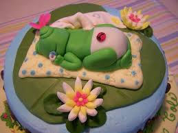 frog baby shower frog theme baby shower cake cakecentral
