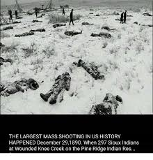 the largest mass shooting in us history happened december 291890