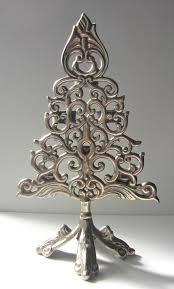 bombay company christmas tree 6 tea light candle holder metal