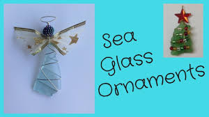 sea glass ornaments diy tutorial