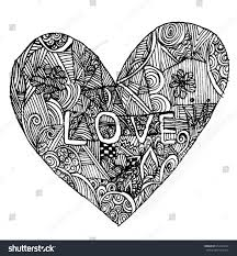 coloring page heart st valentines day stock illustration 372424192