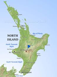 Map New Zealand Physical Map Of New Zealand North Island