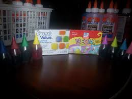 kindergarten lifestyle glue food coloring u003d paint