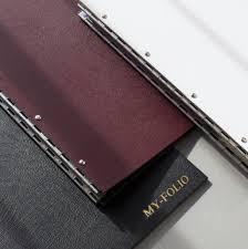 embossed photo album leather embossed post portfolio folder album a4 a3 by my folio