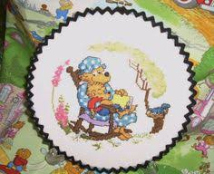 Berenstien Bears Berenstain Bears Completed Cross Stitch Flying By Stitcherscorner