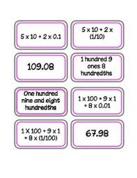 writing decimals in expanded form decimal worksheets and writing