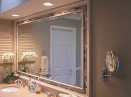 framing bathroom mirror ideas white ornament hanging on green wall bathroom mirrors ideas with