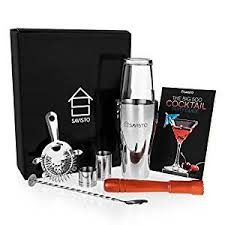 barware sets savisto premium 8 piece cocktail set with boston cocktail shaker