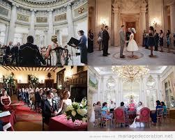 mariage en mairie décoration d un mariage civil à la mairie dans une salle ou à