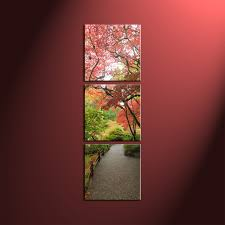 home decor group 3 piece green scenery trees forest wall art