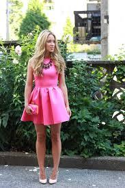 women u0027s pink skater dress beige leather pumps pink