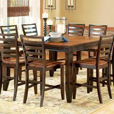 Counter Height Dining Room Furniture Belfort Essentials Abaco 54 Square Solid Acacia Wood Top Counter
