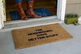 Unique Doormats Vinyl Back Doormat Better Neighbours Coir Doormat Coco Mats