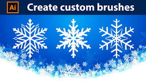 how to create custom brushes snowflakes adobe illustrator