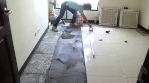 Tile Floor Installers Unique Installing Porcelain Tile Floor Kezcreative