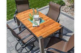 cedar patio table buildsomething com